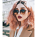 cheap Synthetic Lace Wigs-Synthetic Lace Front Wig Women's Loose Wave Pink Bob Synthetic Hair Pink Wig Medium Length Lace Front Pink Uniwigs