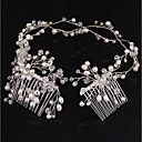 ieftine Accesorii Păr de Petrecerere-Cristal / Imitație de Perle Banderolele / Îmbrăcăminte de păr / Instrumentul pentru păr cu 1 Nuntă / Party / Seara Diadema