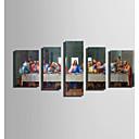 זול הדפסי בד מגולגל-הדפסת בד חמישה פנלים בַּד אנכי דפוס דקור קיר קישוט הבית