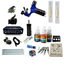 cheap Starter Tattoo Kits-BaseKey Tattoo Machine Starter Kit - 1 pcs Tattoo Machines with 1 x 15 ml tattoo inks, Professional Alloy LCD power supply Case Not Included 20 W 1 rotary machine liner & shader