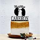 billige Kakedekorasjoner-Kakepynt Klassisk Tema / Bryllup / Dyr Artig & Underspillet Plast Bryllup med 1 pcs Polyester Veske