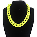 cheap Belly Dance Wear-Women's Chain Necklace / Statement Necklace - Luxury, Fashion Yellow, Red Necklace For Daily, Casual
