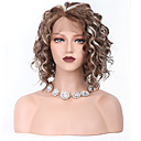 cheap Synthetic Lace Wigs-Synthetic Lace Front Wig Curly With Baby Hair Synthetic Hair Middle Part Sew in / 100% kanekalon hair Brown Wig Women's Short Lace Front