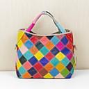preiswerte Handbeutel-Damen Taschen Leder Tragetasche Tasche Regenbogen