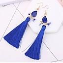 cheap Earrings-Women's Tassel / Long Drop Earrings - Drop Tassel, Fashion Red / Blue / Rainbow For Daily