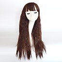 cheap Synthetic Capless Wigs-Synthetic Wig Wavy Asymmetrical Haircut / With Bangs Synthetic Hair Natural Hairline Brown Wig Women's Long Capless