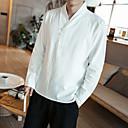 tanie Sukienki dla dziewczynek-Puszysta Koszula Męskie Wzornictwo chińskie Bawełna Solidne kolory / Długi rękaw