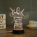 olcso Asztali dekor lámpa-1set 3D éjszakai fény Meleg fehér USB Kreatív / Biztonság / Díszítmény 5 V