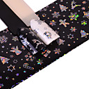 cheap Christmas Nail Art-1 pcs Glitter Powder 3D Nail Stickers Nail DIY Tools nail art Manicure Pedicure 3D Fashion Daily