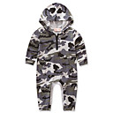 cheap Baby Boys' One-Piece-Baby Boys' Weekend Camouflage One-Pieces, Cotton Polyester Spring/Fall Summer Dresswear Long Sleeves Gray