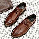 olcso Férfi félcipők-Férfi Formális cipők Bőr Ősz / Tél Félcipők Fekete / Szürke / Barna / Esküvő / Party és Estélyi / Bullock cipő