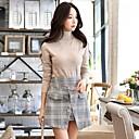 olcso Kigurumi pizsamák-Női Vintage Alkalmi Pulóver - Strassz, Egyszínű Állógallér