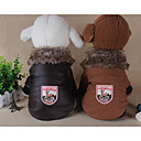 cheap Dog Clothes-Dog Coat Dog Clothes Geometic Black Red Khaki Cotton Down Fur Costume For Pets Casual/Daily