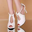 povoljno Ženske cipele s petom-Žene PU Ljeto Udobne cipele Cipele na petu Stiletto potpetica Peep Toe Obala / Crn / Bež