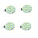 cheap Rubik's Cubes-4pcs 1W 200lm G4 LED Bi-pin Lights T 15 LED Beads SMD 5730 Decorative Warm White Cold White 12-24V