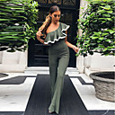 cheap Party Headpieces-Women's Jumpsuit - Solid, Backless High Rise Wide Leg Boat Neck