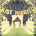 """cheap Eyeshadows-1pc """"Just Married"""" Wedding Letter Pull Flower Decoration Banners Wedding Banquet Layout Dress Up Marriage Room Decoration Flag"""
