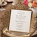 baratos Convites de Casamento-Embrulhado e de Bolso Convites de casamento 20 - Cartões de convite Estilo Clássico Papel com Relevo