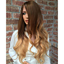 cheap Human Hair Wigs-Human Hair Glueless Lace Front Lace Front Wig Brazilian Hair Kinky Curly Wig Layered Haircut with Baby Hair 130% Density Ombre Hair Natural Hairline African American Wig 100% Virgin 100% Hand Tied