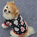 abordables Ropa para Perro-Perro Sudadera Ropa para Perro Geométrico Negro / Blanco / Negro Lana Polar Disfraz Para mascotas Navidad / Año Nuevo
