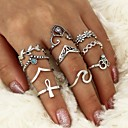 cheap Rings-Women's Crystal Geometric Ring - Crystal, Alloy Leaf, Wave Geometric, Cross One Size Silver For Casual Formal