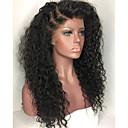 olcso Emberi hajból készült parókák-Emberi haj Csipke korona, szőtt Csipke Paróka Brazil haj Kinky Curly Paróka 130% Haj denzitás Afro-amerikai paróka 100% kézi csomózású Női Hosszú Emberi hajból készült parókák / Kinky Göndör