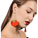 cheap Earrings-Women's Tassel Drop Earrings - Black / Brown / Red For Party / Daily