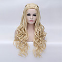 cheap Costume Wigs-Synthetic Wig / Cosplay & Costume Wigs Deep Wave Blonde Synthetic Hair Blonde Wig Women's Long Capless
