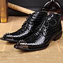 olcso Férfi sportcipők-Férfi Formális cipők Nappa Leather Ősz / Tél Csizmák Bokacsizmák Fekete / Party és Estélyi