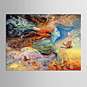 cheap People Paintings-Stretched Canvas Print One Panel Canvas Horizontal Print Wall Decor Home Decoration