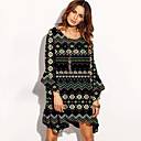 cheap Dance Sneakers-Women's Beach Boho Loose Dress Print Asymmetrical