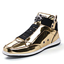 cheap Men's Sneakers-Men's PU(Polyurethane) Spring / Fall Comfort Sneakers Gold / Black / Silver