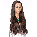 cheap Synthetic Lace Wigs-Synthetic Lace Front Wig Wavy Synthetic Hair Natural Hairline Brown Wig Women's Long Lace Front Wig