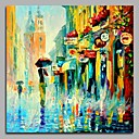 cheap Landscape Paintings-Oil Painting Hand Painted - Landscape Artistic / Classic / Modern / Contemporary Canvas / Stretched Canvas