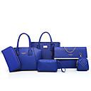 cheap Bag Sets-Women's Bags PU Bag Set 6 Pieces Purse Set Zipper Gold / Black / Red
