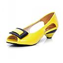 preiswerte Damen Sandalen-Damen Schuhe PU Frühling / Herbst Komfort / Neuheit Sandalen Flacher Absatz Peep Toe Schnalle Grün / Blau / Rosa / Hochzeit