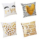 cheap Instrument Accessories-4 pcs Velvet / Natural / Organic / Polyester Pillow Cover / Pillow Case, Textured Heart shape / Modern / Contemporary / Traditional /