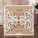 cheap Wedding Garters-Wrap & Pocket Wedding Invitations 20 - Invitation Cards Classic Style Embossed Paper