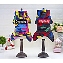 cheap Synthetic Capless Wigs-Cat / Dog Coat / Hoodie / Rain Coat Dog Clothes Geometric Black / Red Waterproof Material / Polyster Costume For Pets Casual / Daily / Waterproof / Keep Warm