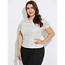 billige Clutch- og aftenvesker-Polyester Store størrelser Bluse - Ensfarget, Blonde Dame