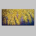 olcso Olajfestmények-Hang festett olajfestmény Kézzel festett - Virágos / Botanikus Absztrakt Modern Tartalmazza belső keret / Nyújtott vászon