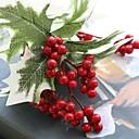 お買い得  クリスマスデコレーション-人工花 1 ブランチ 田園 スタイル 植物 テーブルトップフラワー