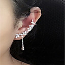 cheap Earrings-Women's Crystal Tassel Stud Earrings Mismatch Earrings Ear Climbers - Sterling Silver, Crystal Personalized, Fashion Silver For Casual Going out