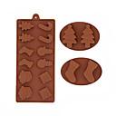 preiswerte Kuchenbackformen-Schneemann Weihnachtsbäume Schokolade Silikonform Cookies Formen Fondant Kuchen dekorieren