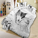 cheap 3D Duvet Covers-Duvet Cover Sets 3D Polyester Reactive Print 4 PieceBedding Sets / 300 / 4pcs (1 Duvet Cover, 1 Flat Sheet, 2 Shams)