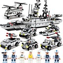 cheap Building Blocks-SHIBIAO Building Blocks 1090pcs Classic Nautical / Military / Warship DIY Contemporary / Classic & Timeless / Chic & Modern Aircraft