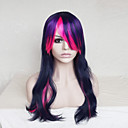 cheap Synthetic Capless Wigs-Synthetic Wig Wavy Asymmetrical Haircut / With Bangs Synthetic Hair Natural Hairline Blue Wig Women's Long Capless