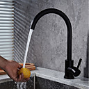 cheap Kitchen Faucets-Kitchen faucet - Modern / Contemporary Black Oxide Finish Modern / Contemporary Deck Mounted