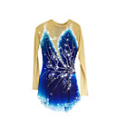 cheap Bakeware-Figure Skating Dress Women's / Girls' Ice Skating Dress Aquamarine Spandex Rhinestone High Elasticity Performance Skating Wear Handmade