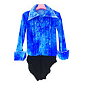 cheap Bakeware-Figure Skating Top Men's / Boys' Ice Skating Shirt Azure Spandex Rhinestone High Elasticity Performance Skating Wear Handmade Solid
